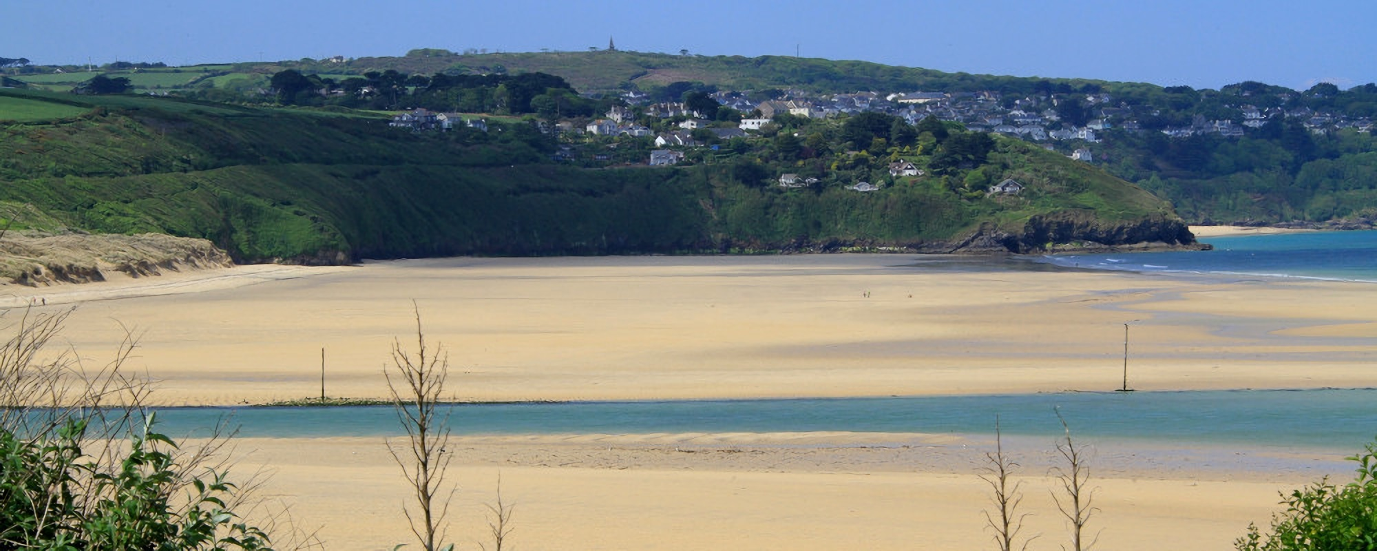 Morryp beach holiday views in hayle